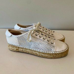 Marc Fisher Womens Macey Sneakers Shoes White 8